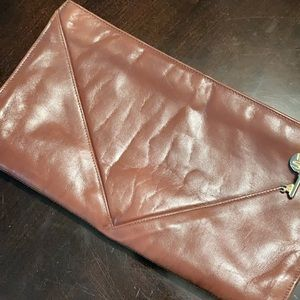 Rare 70s Ruth Saltz Collection Leather Clutch Bag